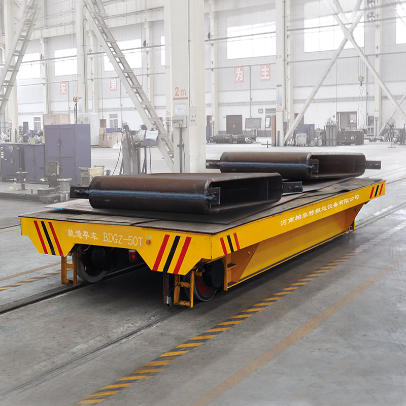 4-wheel self-driven transfer vehicle using in steel plant running on railways