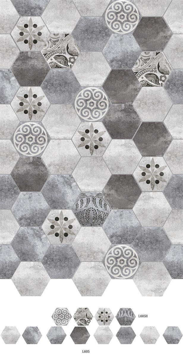 Interior Wall Ceramic Hexagon Floor Tile