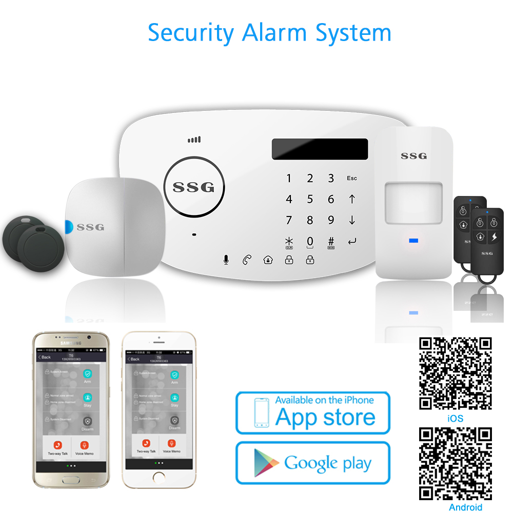 wireless internet and GSM alarm system-T6L