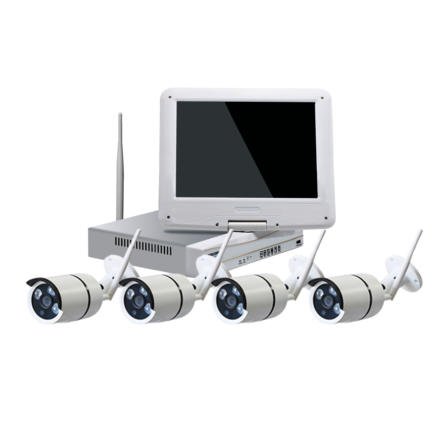 10.I inch lcd monitor wireless cheap cctv camera kit with NVR
