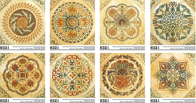 flower design tile for living room wall and floor tile