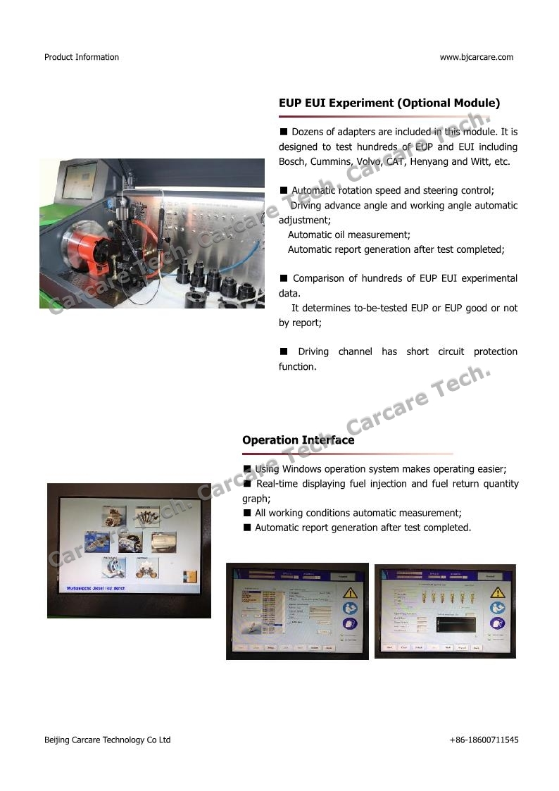 CCR6800 Multipurpose Diesel Fuel Injection Pump Test Bench