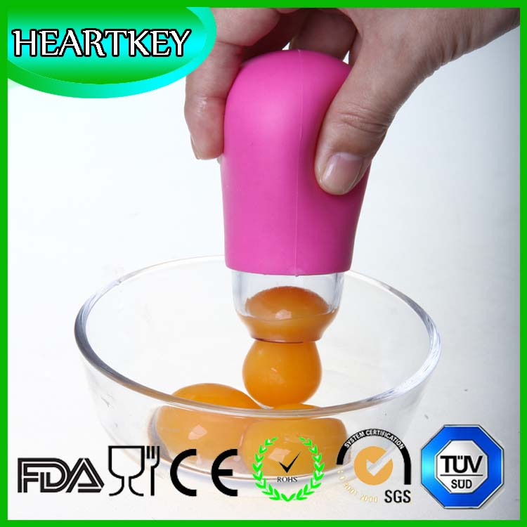 Kitchenware Silicone Round Egg Yolk Out Separators