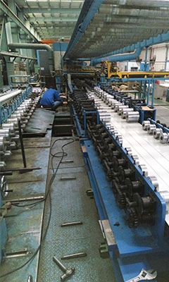Ceiling panels roll forming machine, roll former, rollers