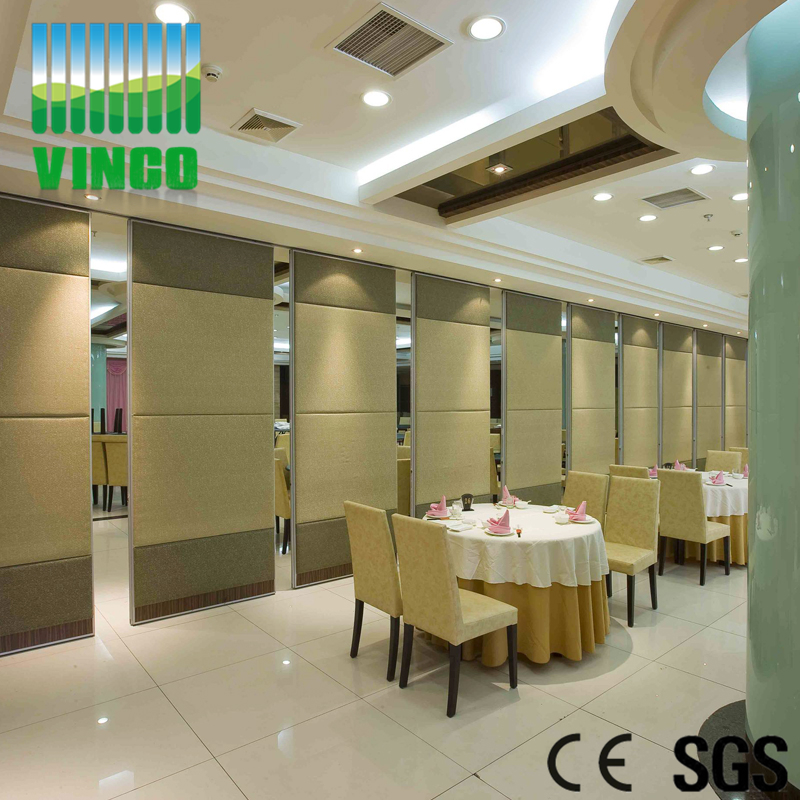 Movable Panel Room Divider Partition Wall Sliding Door For Restaurant