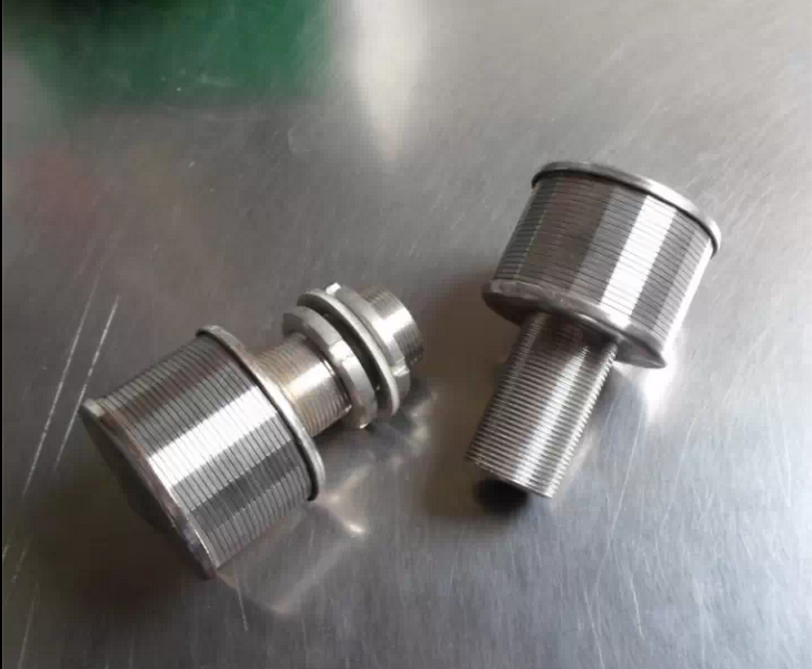 wedge wire screen nozzle / filter element
