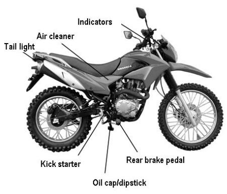 250cc magician dirt bike enduro 5 speed manual w   electric