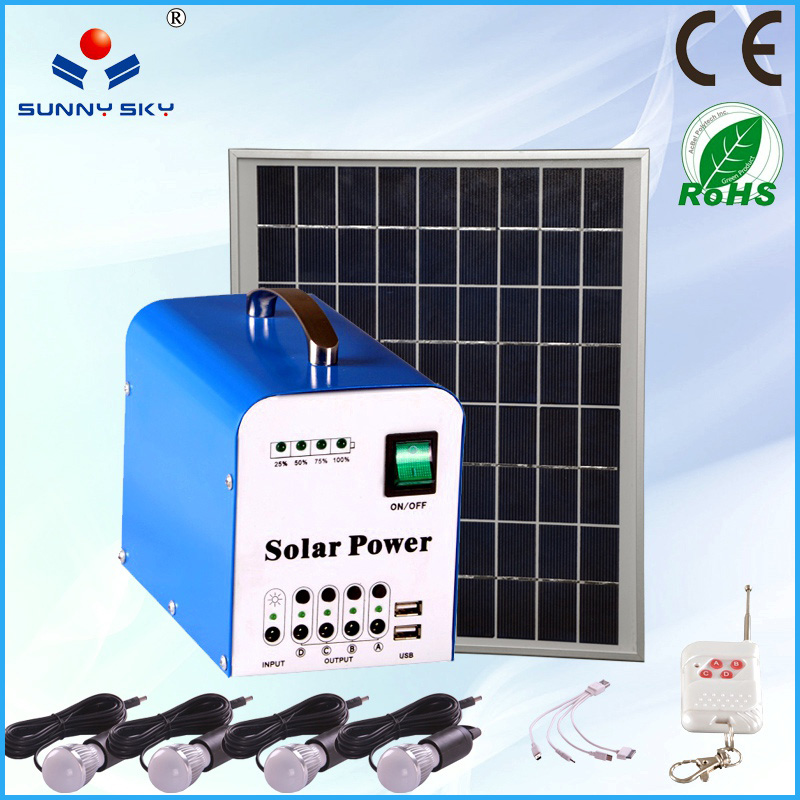 small home solar panel kit solar power system portable solar lighting kit and mobile charge