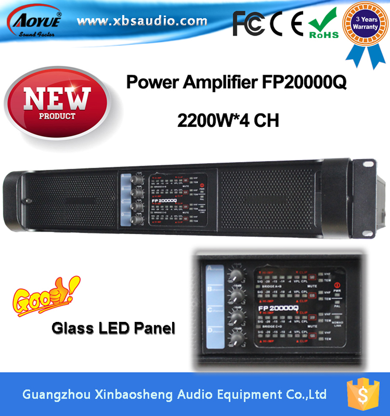 2016 Newest Lab Gruppen Fp20000q High Quality Power Amplifier 2200W*4 Channels