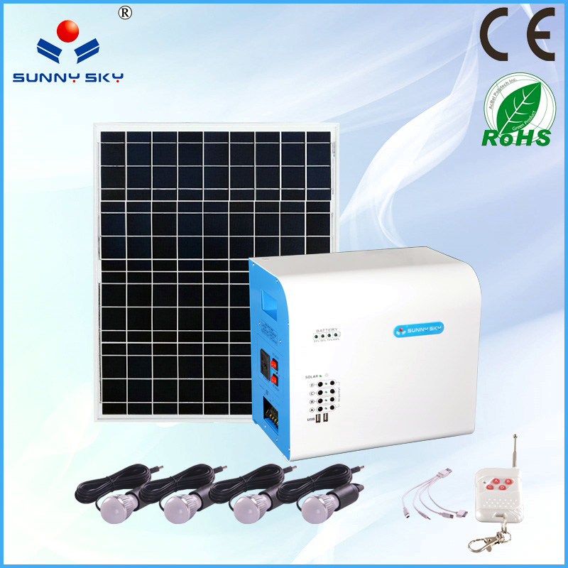 CE RoHs mini solar portable system solar panel kits solar power system for home