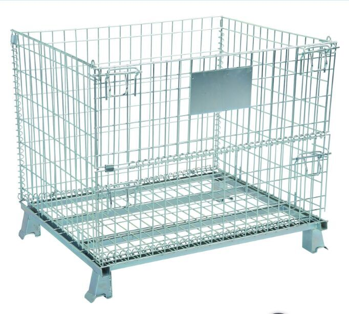 Custom Size Foldable Storage Cage/ Wire Container With Wheels ...