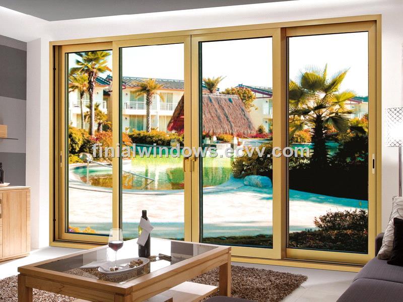 Large Customized Double Glazed Aluminum Sliding Doorssliding Glass