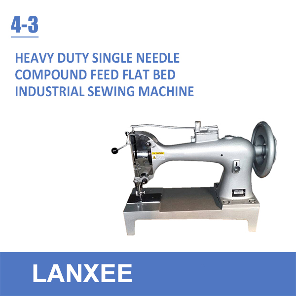 Lanxee 4-3 compound feed extra heavy duty sewing machine