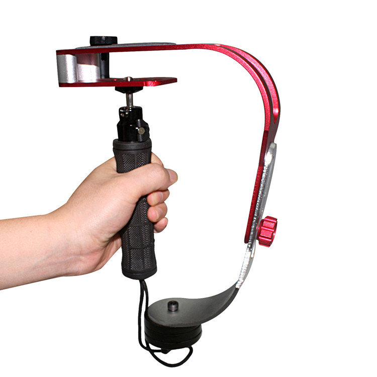 Professional Mini Handheld Stabilizer Hole Camera Steadicam With 1/4''  Mount For GoPro