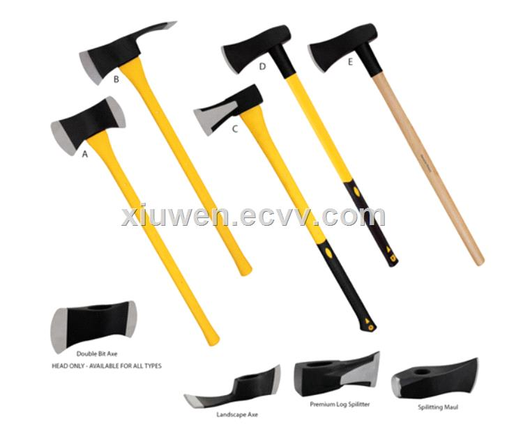 100 piece axe hatchet and hammer wedges in plastic divider maul sledge