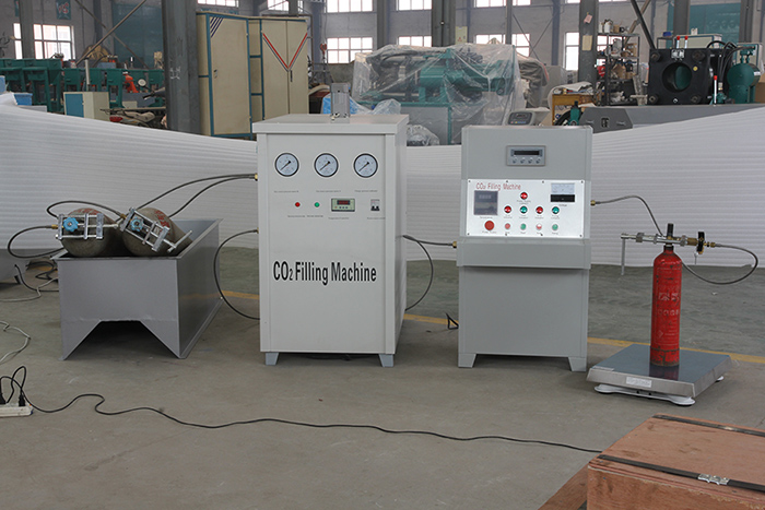 fire extinguisher co2 filling machine