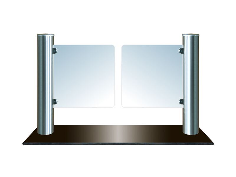Electronic Vertical Swing Glass Barrier Gate KT005