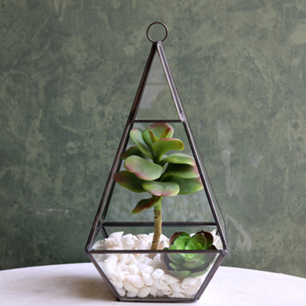 Hanging Glass Terrarium Airplants Glass Bottle Home Decoration Metal