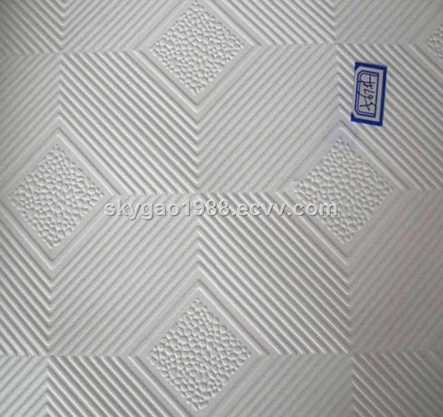 Pvc Laminated Gypsum Ceiling Tile Panel Board