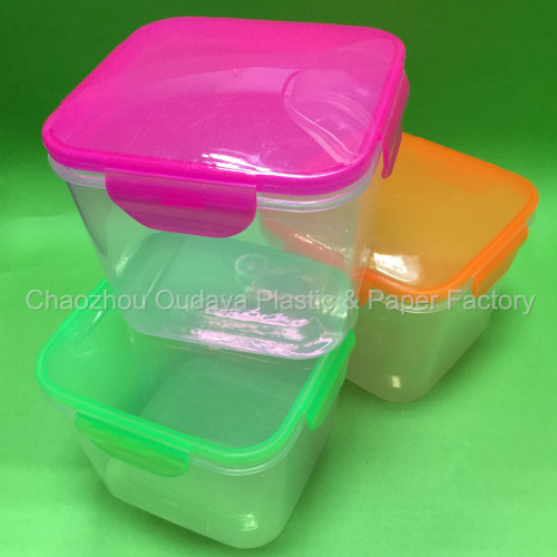 Transparent plastic container storage box