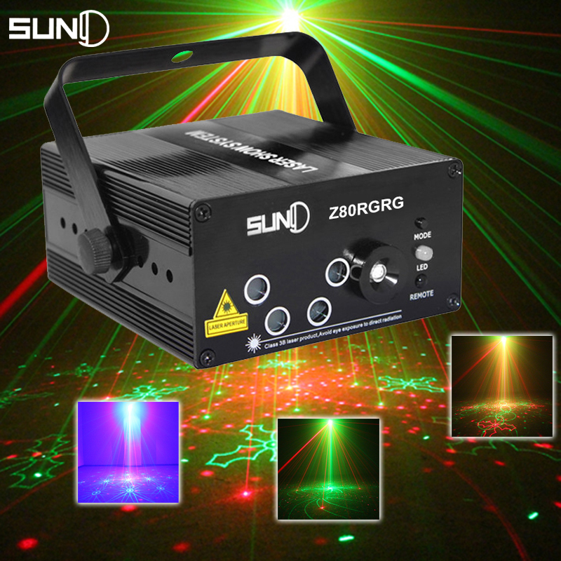LED Laser Stage Lighting 5 Lens 80 Patterns Projector 3W Blue Light Effect Show Disco Party Lights