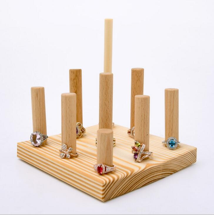 Customized Wooden Ring Display Holder