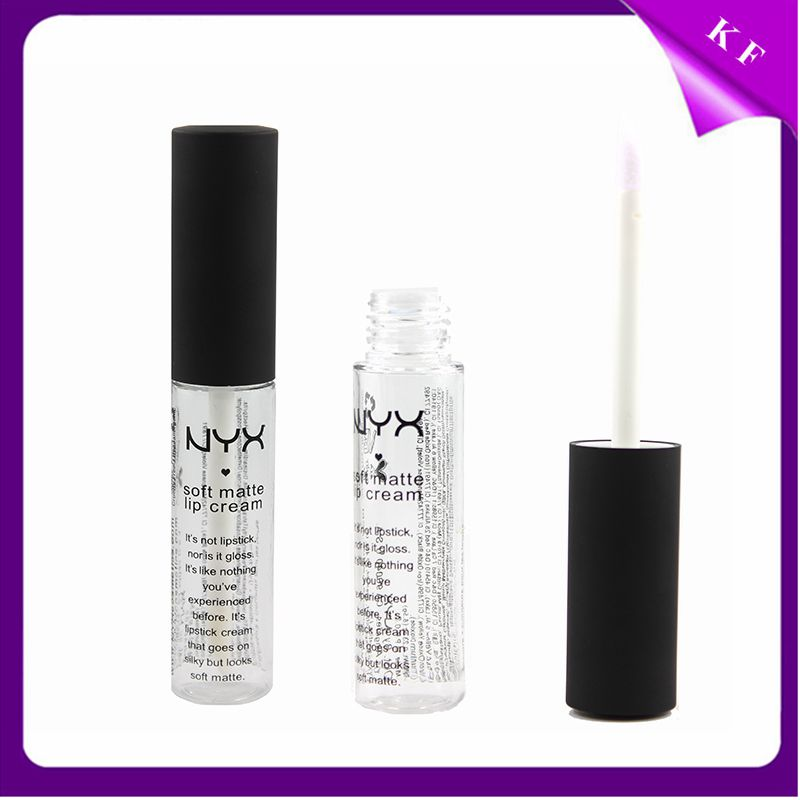 China Factory Liquid Lip Gloss Screen Printing Waterproof matte nyx cosmetics lipstick tube CG2277
