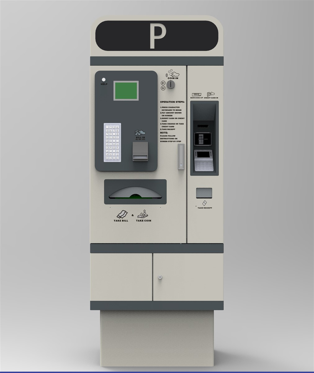 parking system kiosk automatic payment machine auto pay station