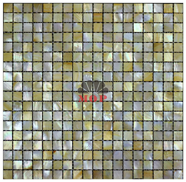 Luxury wall board shell tiles home using