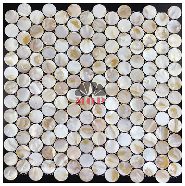 wholesale circle wall decoration shell slab villa