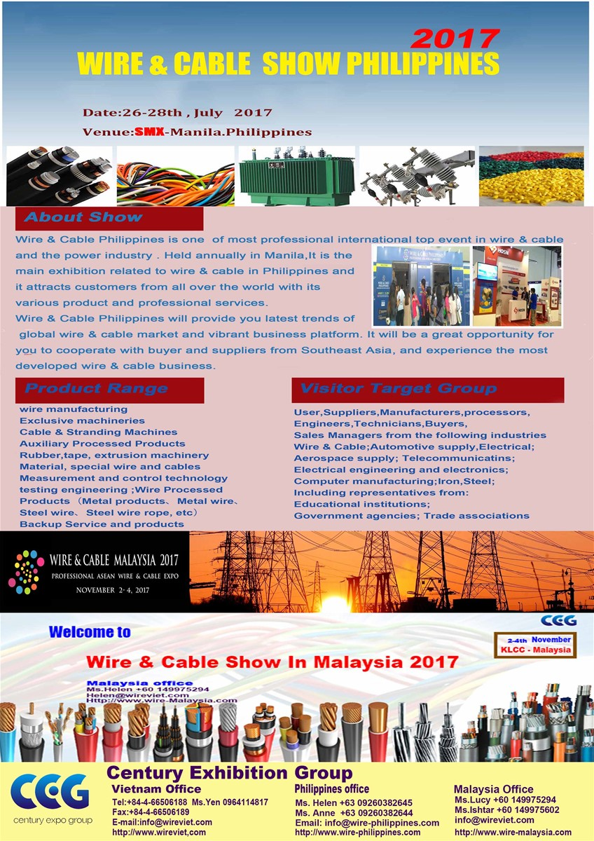 Wire Cable Expo Philippines 2017 Purchasing Souring Agent Ecvv Harness