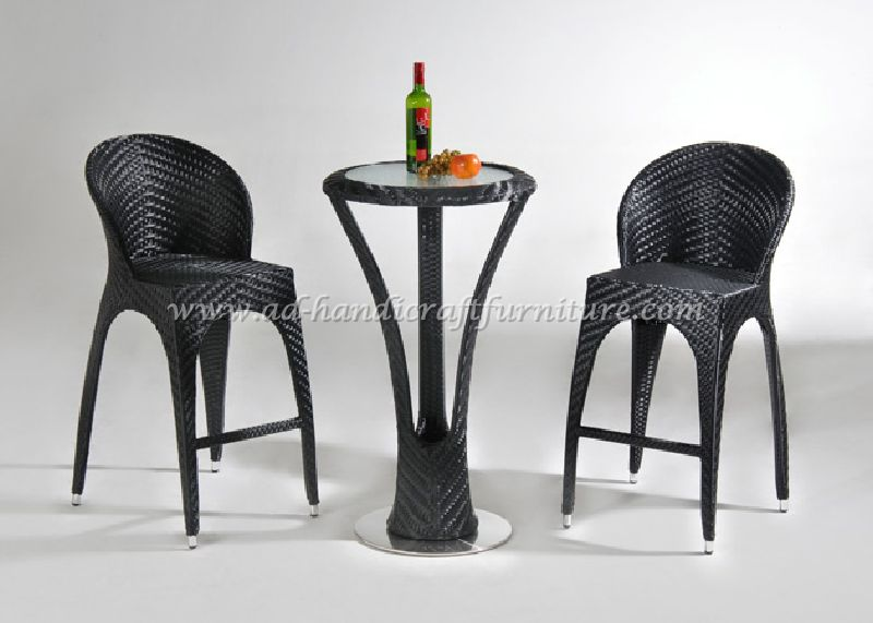 outdoor wicker rattan bar sets