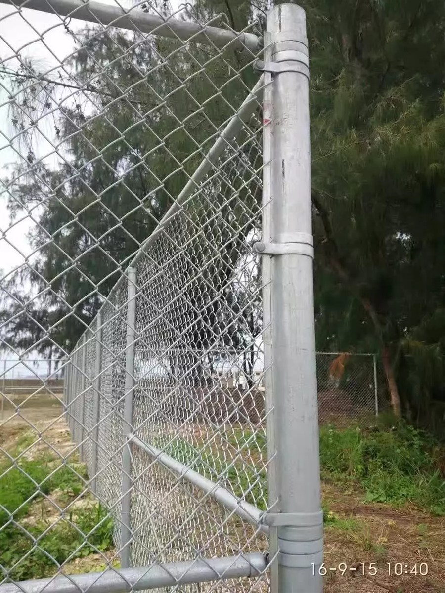 PVC coated used chain link fencing in metal wire mesh