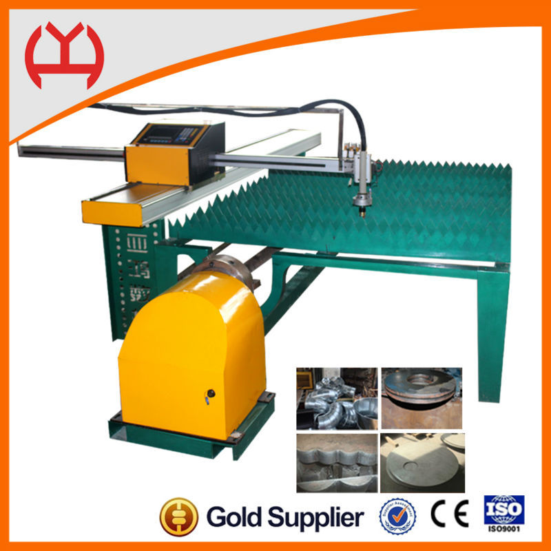 High accuracy steel round cutting machine with THC