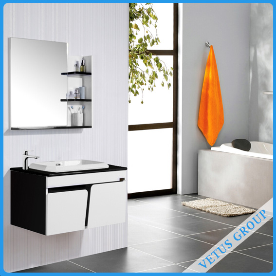 Wooden furniture clothes cabinet bathroom cabinet with bathroom vanity