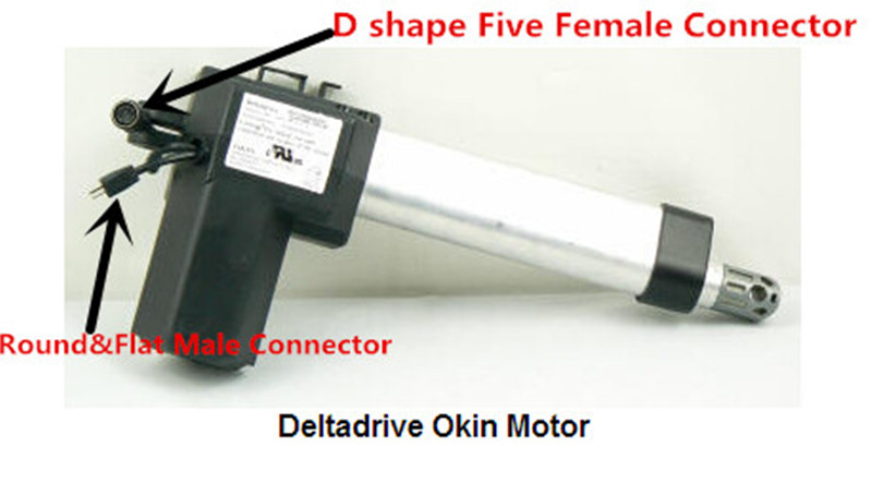 Five Pins Handle Remote Control Compatiable with Limosss Deltadriver OKING Linear Actuator Motor