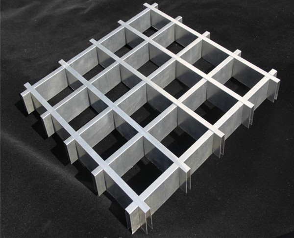 Aluminum grid open cell ceiling