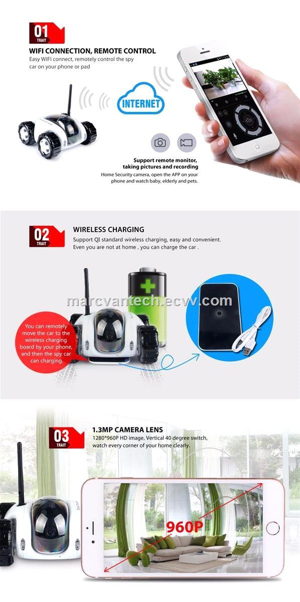P2P Wireless IP Camera wifi video toy car network remote