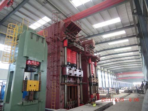 20000 ton close die forging hydraulic press in manufacturing process