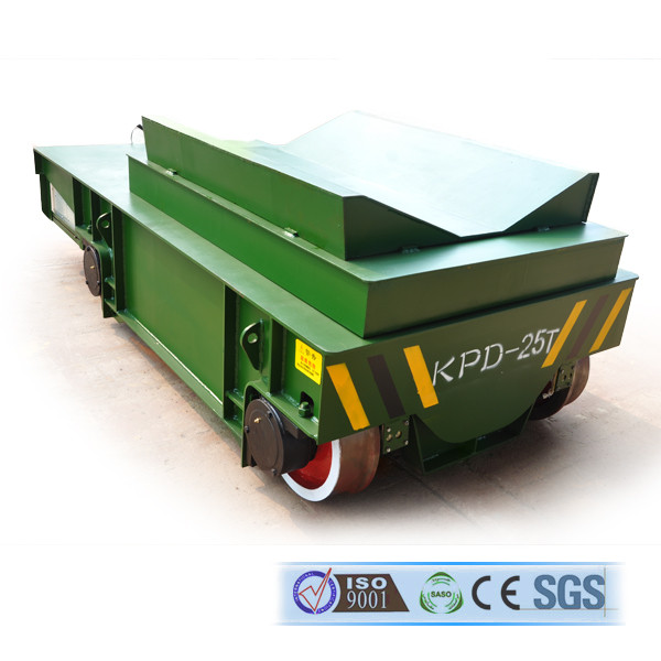 China Manufacturer V Frame Rounded Material Handling Electric Rail Cart