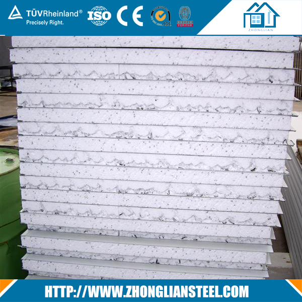 Cheap price 30 50mm EPS PU wall roof sandwich panel from China