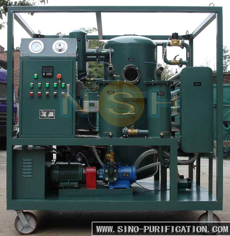 Regeneration Device for Transformer Oil