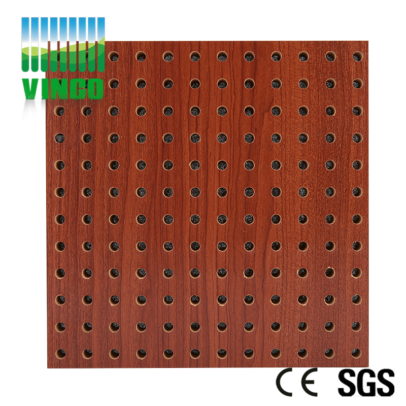 MDF Melamine Finish Sound Absorbing Perforated Acoustic Panel For Office