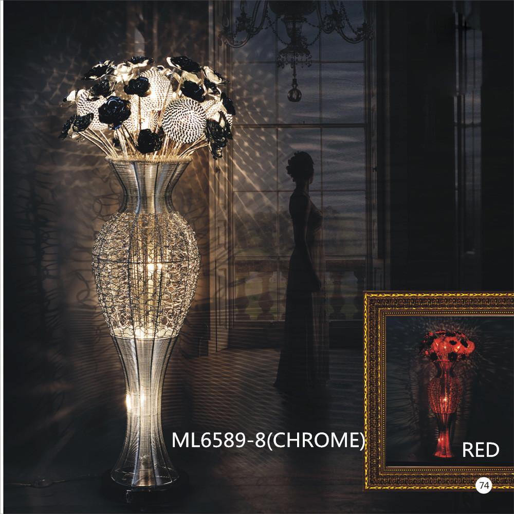 promo code 5826d 00fe4 aluminum decorative modern flower vase floor lamp
