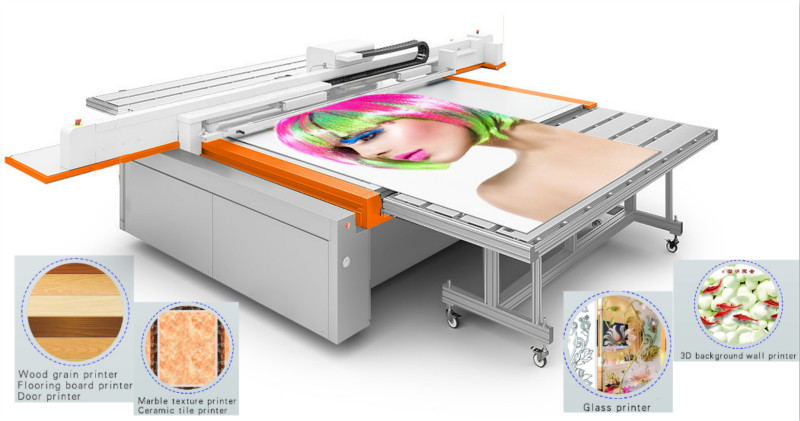 industrial uv flatbed printer machine