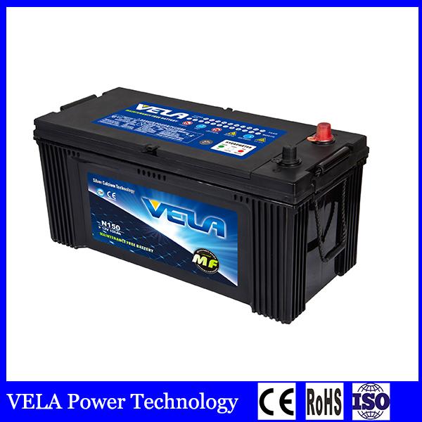 Best Price N150 Lead Acid Truck Battery For Heavy Duty
