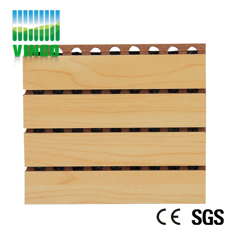 sound absorbing grooved acoustic panel MDF board for audutorium
