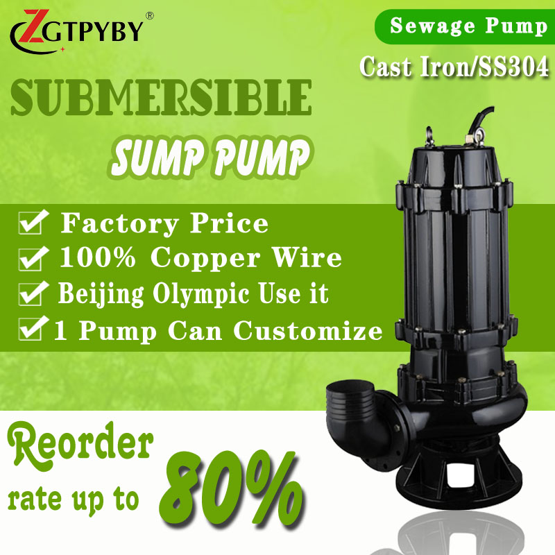 Cast Iron 100m3/h Electric Submersible Sewage Pump Price