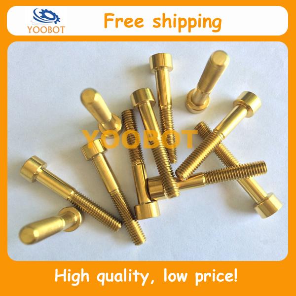 Free Shipping! Gr5 Ti6Al4V DIN912 GOLD Titanium Ti Bolt Screw M6 x 35mm  Allen Head Ror Headset