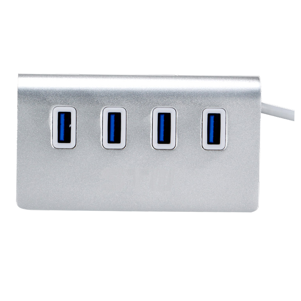 4 Port USB 30 Hub Aluminium Housing Adapter for Apple Mac Pro Laptop PC Android TV Box hub